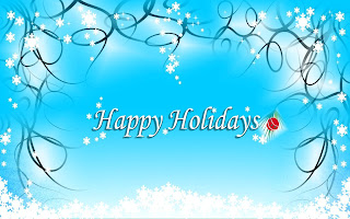 Beautiful design background wallpaper of happy holidays background image for desktop with snowflakes