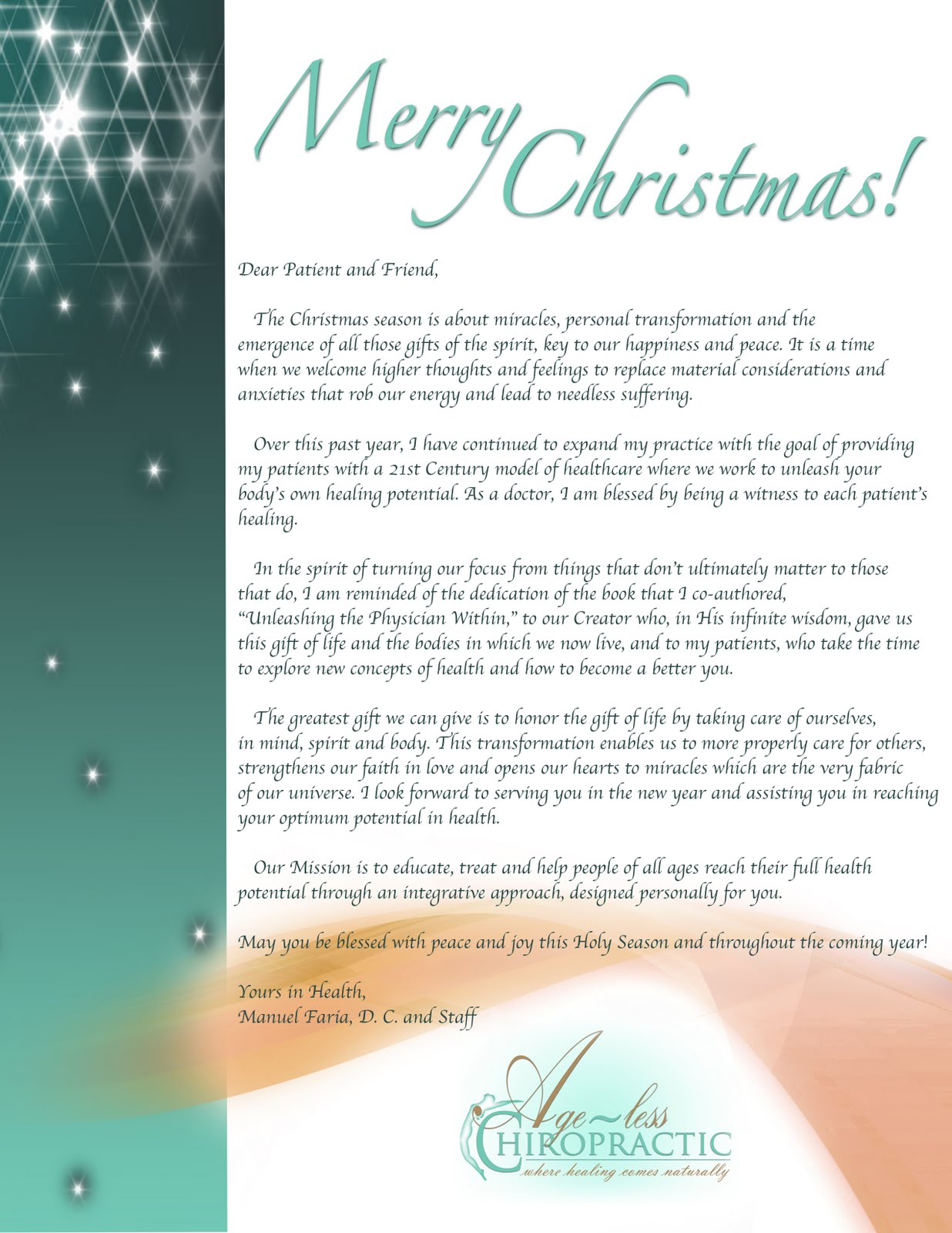 corporate christmas letter