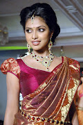 Saree Blouse Designs (5). Amala Paul Bhumika in green pattu sari with .