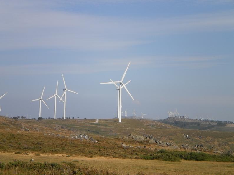 Ventoínhas eólicas na serra da Freita