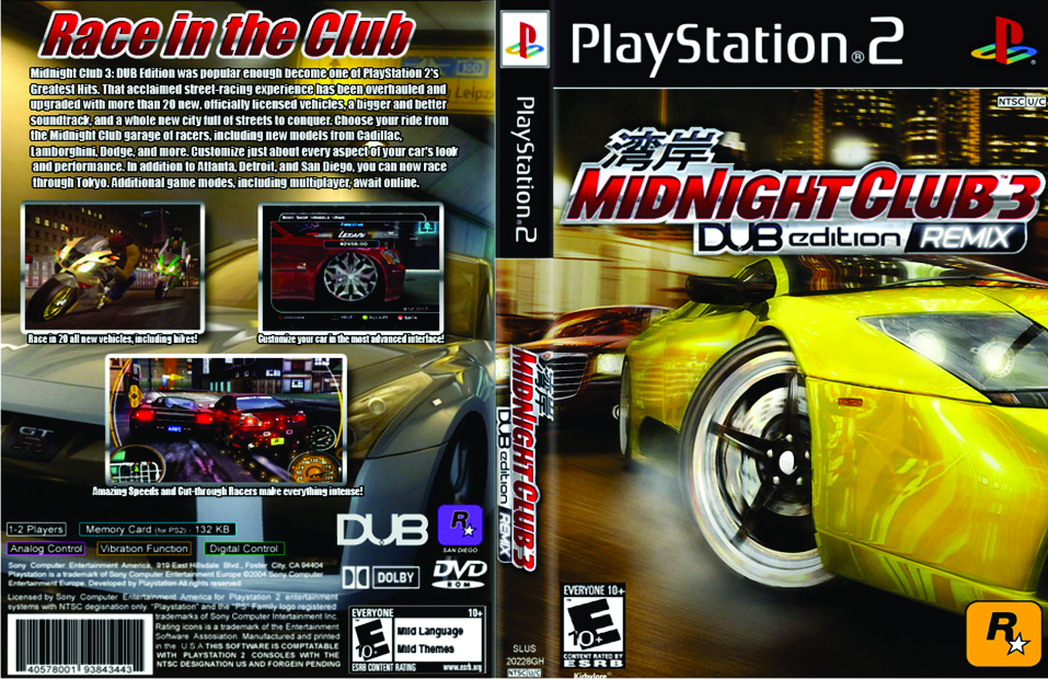 download midnight club 3 dub edition remix pc iso