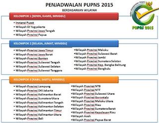 penjadwalan pupns tiap provinsi dan kabupaten