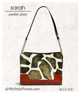 Miche Sarah Petite Shell ~ Giraffe Print Purse