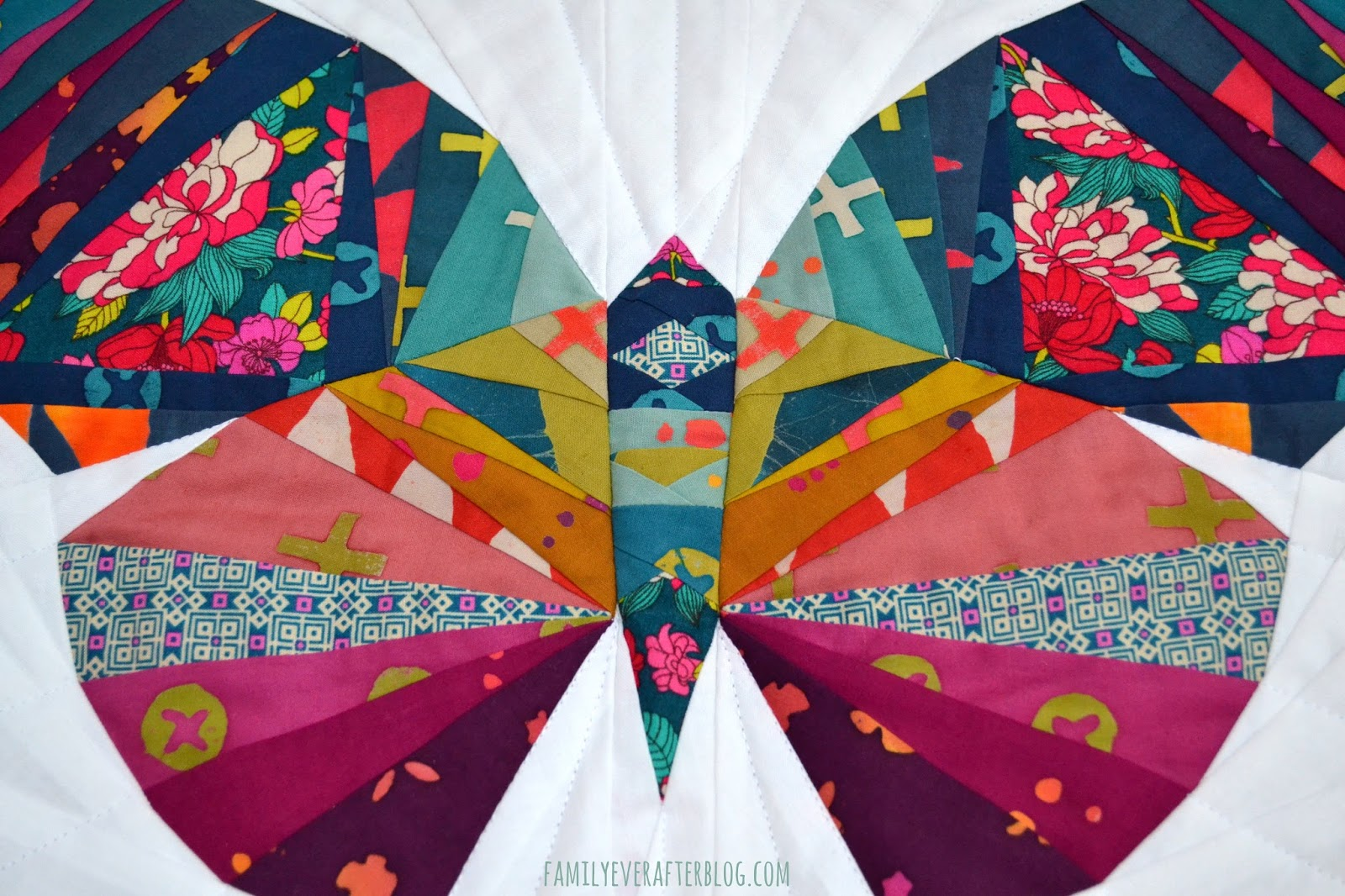 family ever after foundation paper piecing take wing butterfly