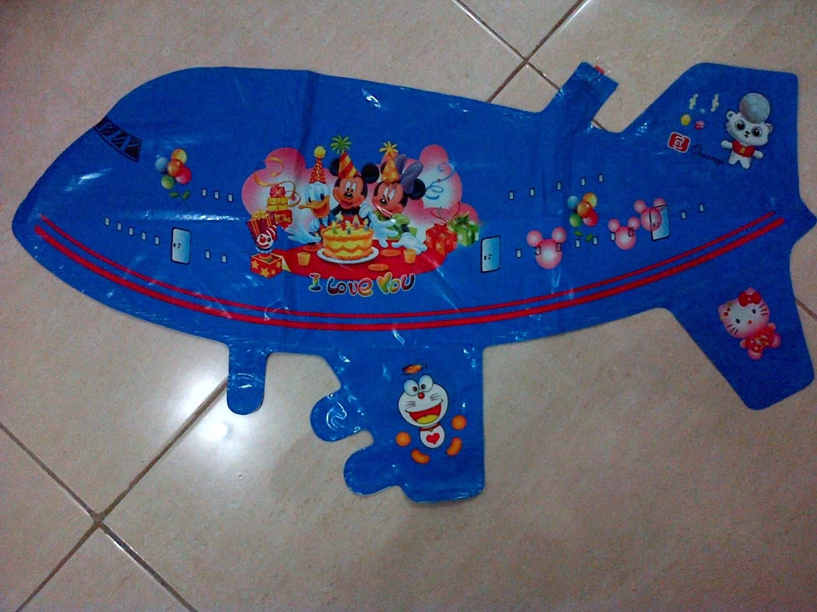 Balon Character Pesawat Biru Anugerah Utama Toys Motif Ultraman