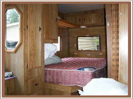 Travel trailer renovation remodeling a travel trailer - Trailer bedroom ideas ...