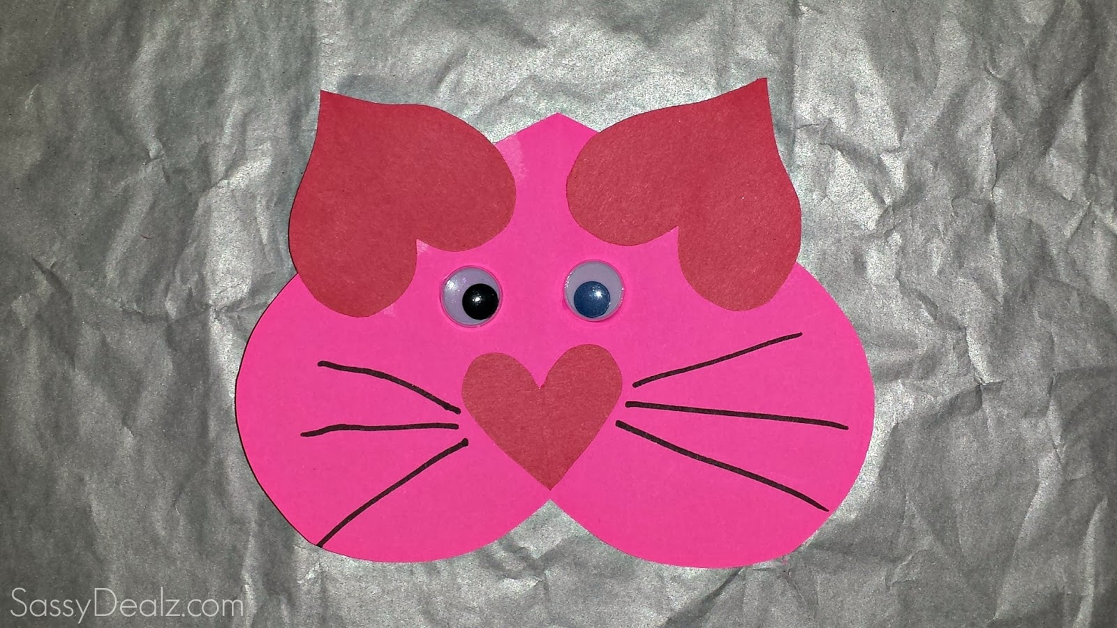 cat valentines card idea