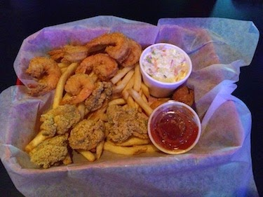 Chuck and Lori's Travel Blog - Fried Shrimp, Oysters, and Fries