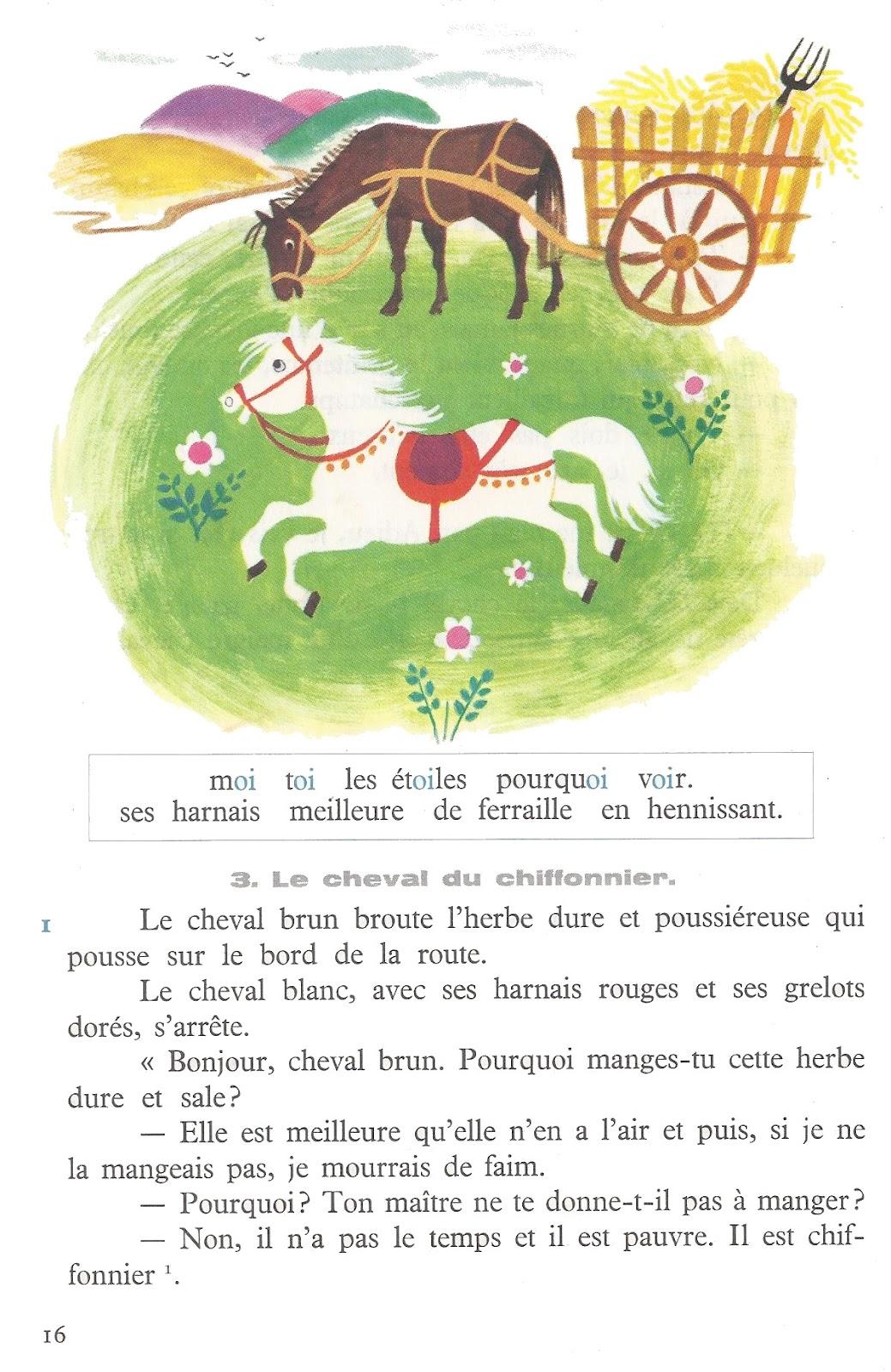 Célèbre école : références: Le cheval blanc, F. Houlet - Lire et parler  VI95