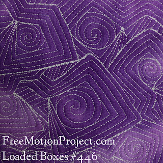 free motion quilting | loaded boxes quilting design