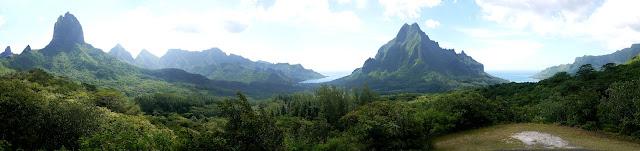 View of Mount Rotui, from Belvedere, on Moorea Island, near tahiti