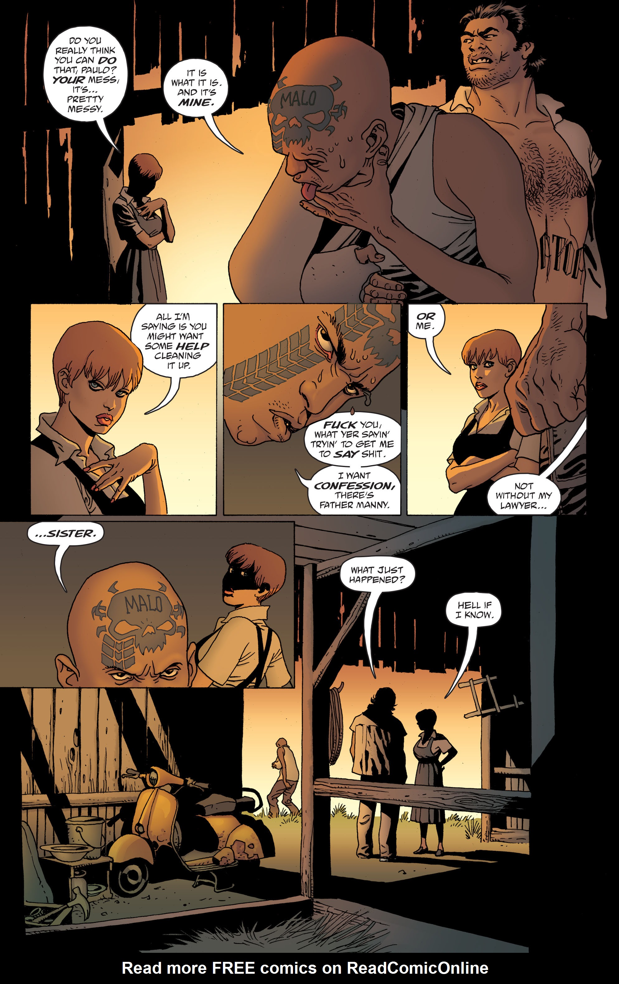 100 Bullets: Brother Lono Full Page 105