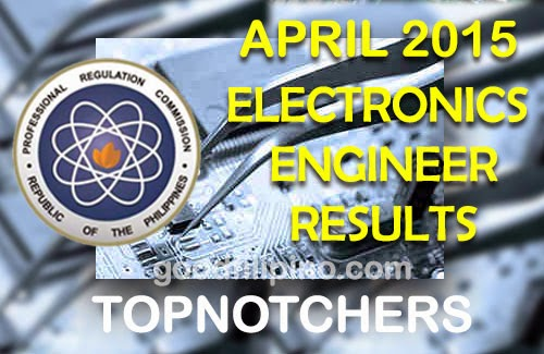 Top 10 Electronics Engineer Board Exam Passers (April 2015)