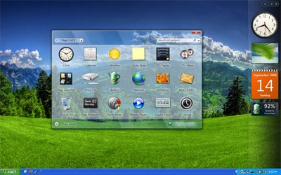 windows xp with vista sidebar