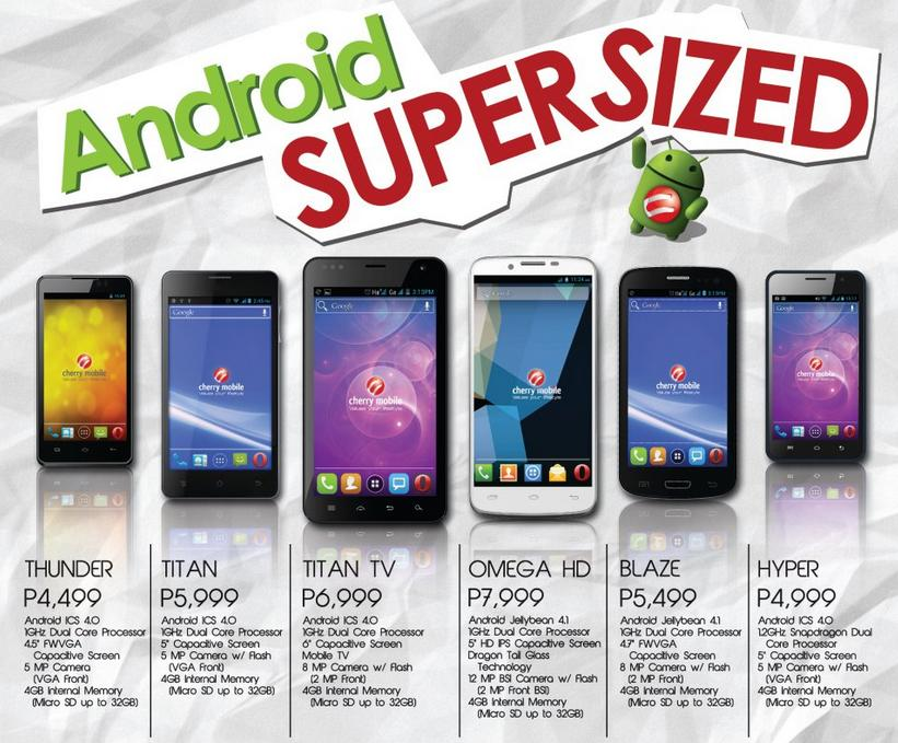 Cherry Mobile Android Phone Price List