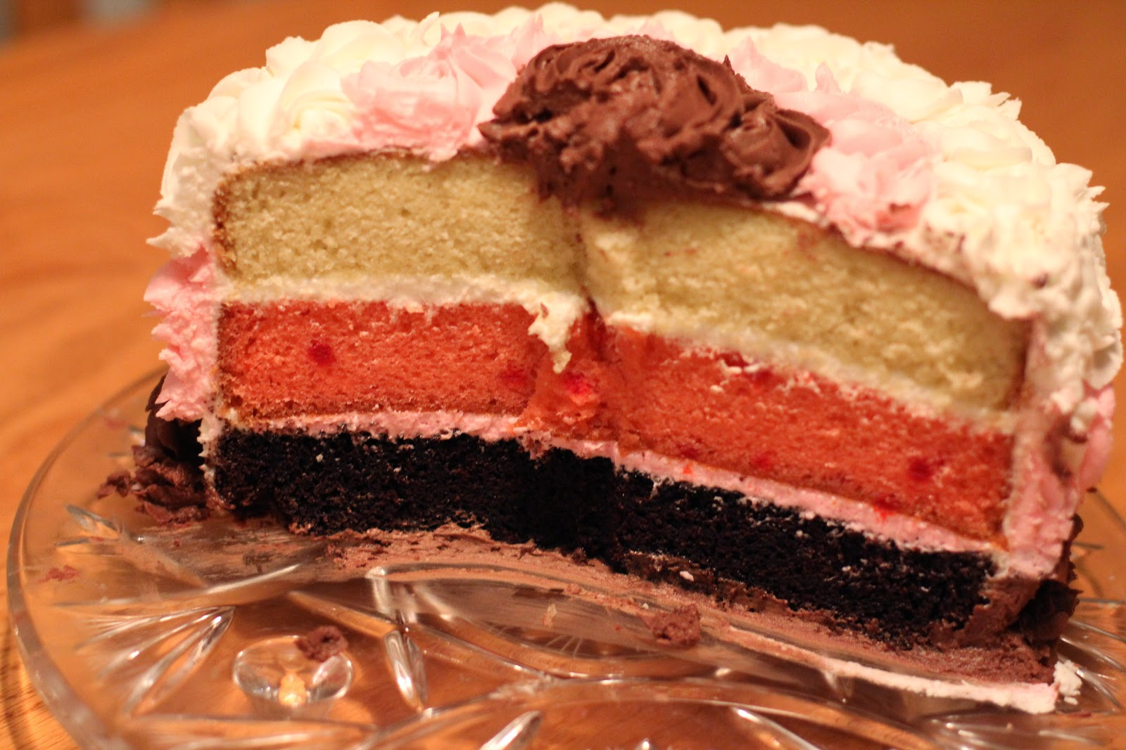 Neapolitan Cake With Non Traditional Layers