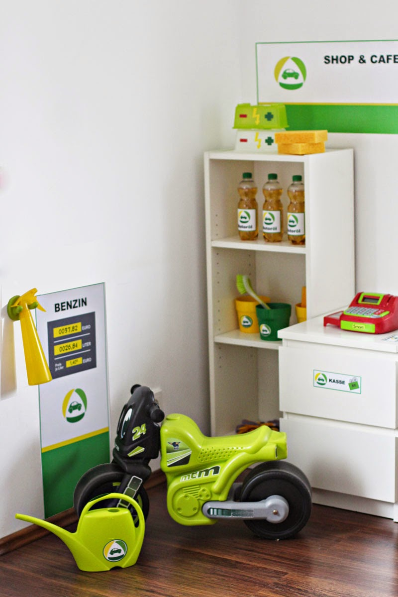Eigentlich Wird Die Tankstelle Mit Der APA Box Von Ikea Und Den Regalen  Ekby Ösken Aufgebaut Und Sieht So Aus (Bildquelle:Limmaland.com!)