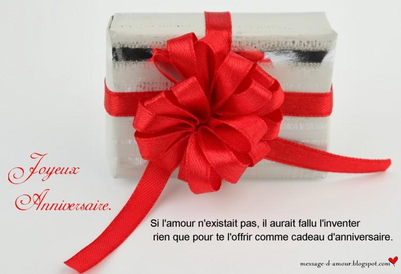 Connu Voeux d'anniversaire - Message d'amour GJ66