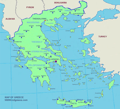 Greece Map Political Area