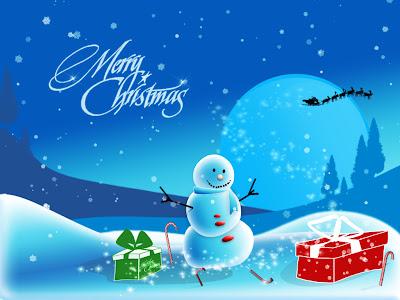 Merry Christmas Anime Snow Man