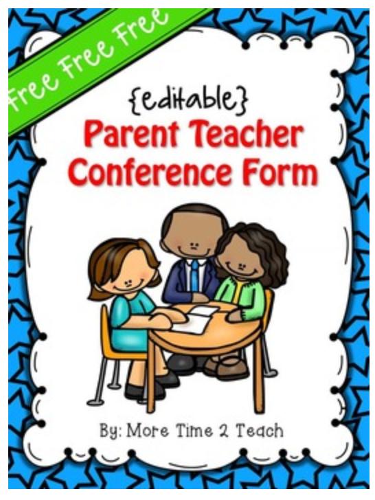 Parent Teacher Conference Forms Teaching Resources Mandegar Info