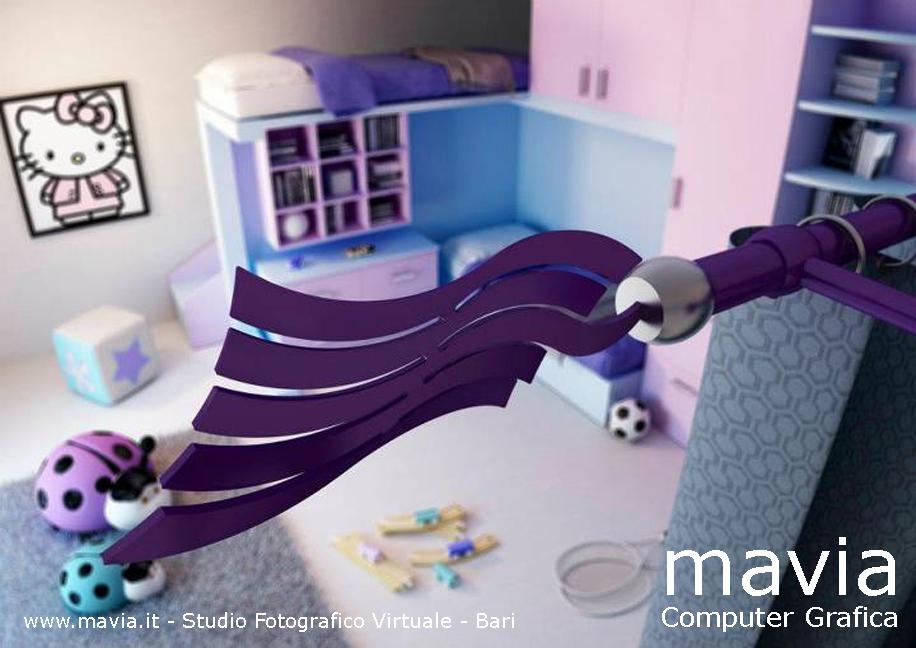 Arredamento di interni bastoni per tende e tendaggi dal for Tendaggi moderni design
