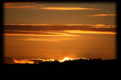 Knall oransje himmel