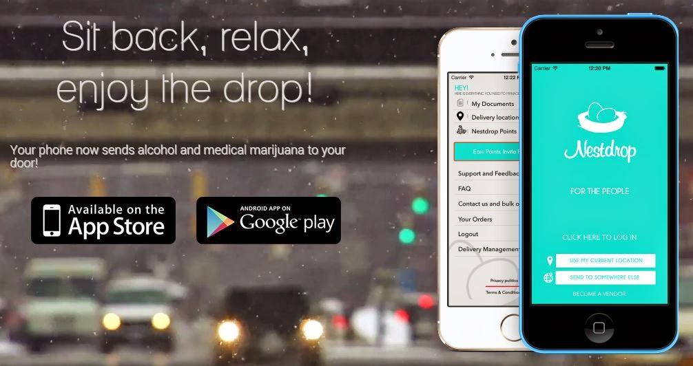 Nestdrop marijuana delivery app