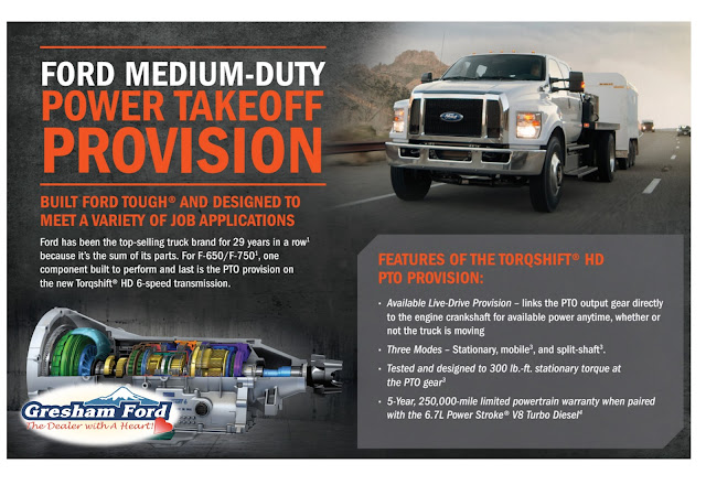 Ford Medium Duty Power TakeOff Provision at Gresham Ford