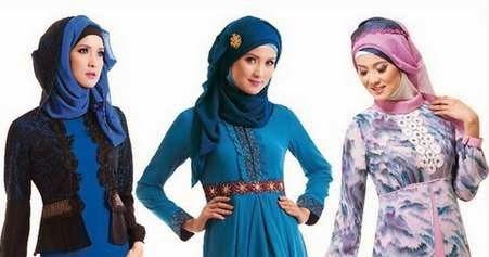 20 contoh desain baju muslim gamis brokat terbaru 2016