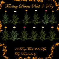 fantasy daisies PNG tubes