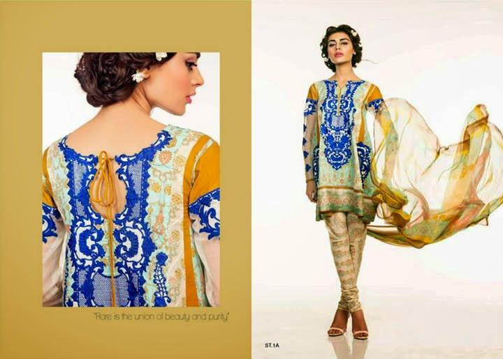 Ali Xeeshan Eid Collection 2014 by Shariq Textiles