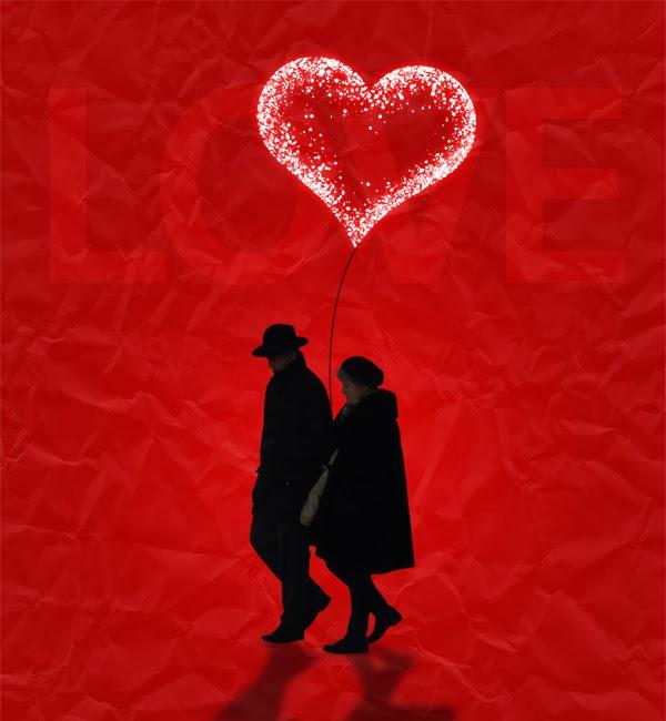 Membuat Poster bergaya Valentine.