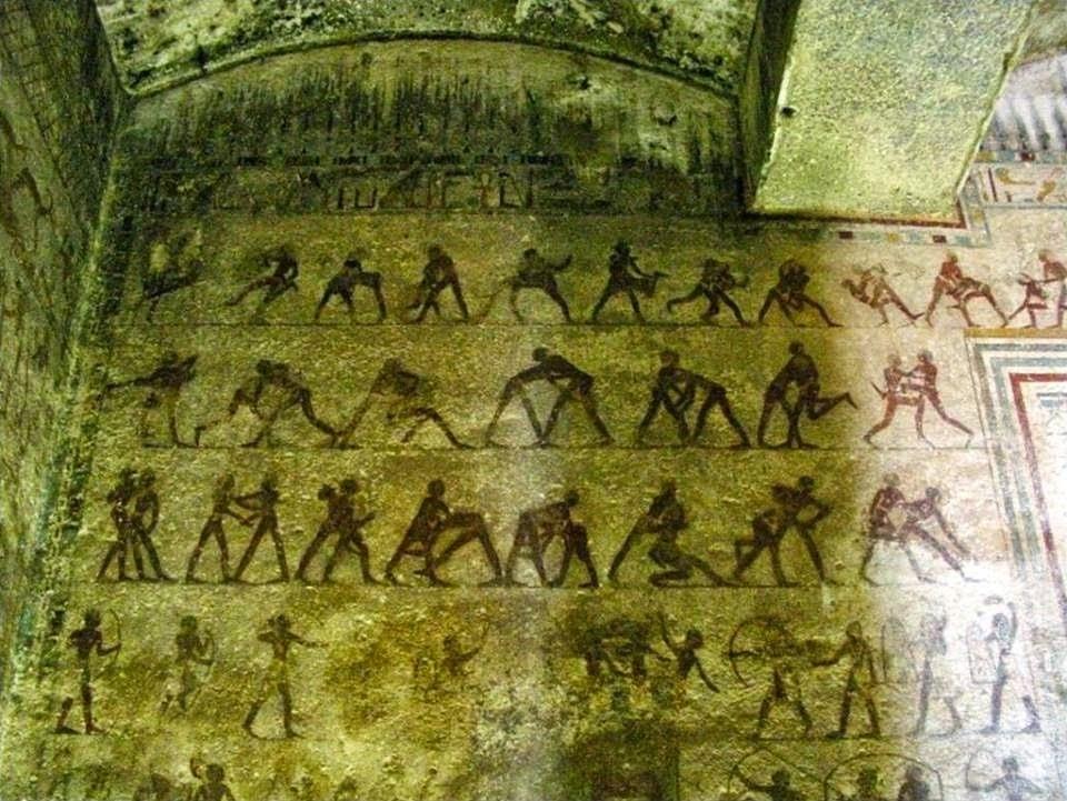 مشاهد القتال من مقبرة امنمحات ببنى حسن