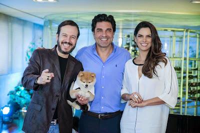 Celso Zucatelli, Edu Guedes e Mariana Leão - FERNANDA SIMÃO/ DIVULGAÇÃO REDETV!