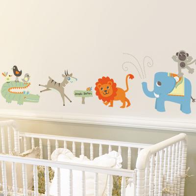 El beb entre flores decoraci n pared adhesivos infantiles for Adhesivos pared bebe