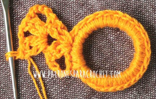 paso a paso puntilla para estola crochet