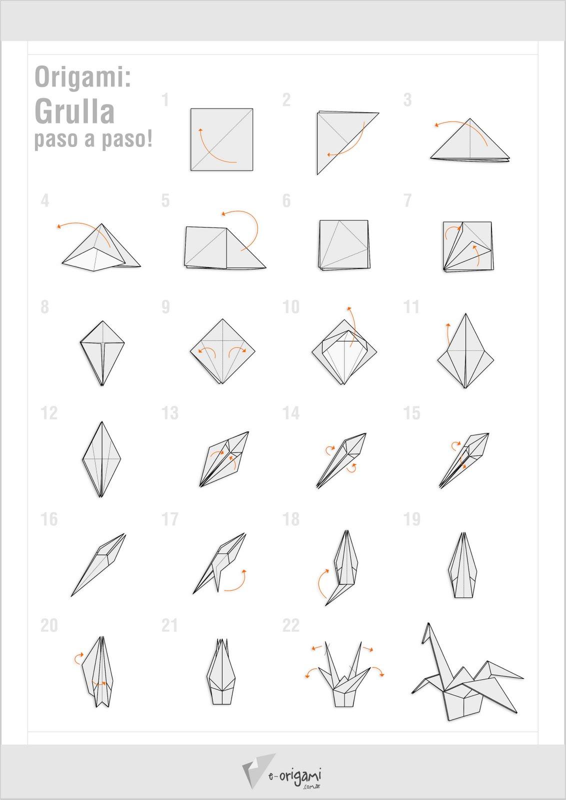 BlogFer: Origami: Grulla paso a paso