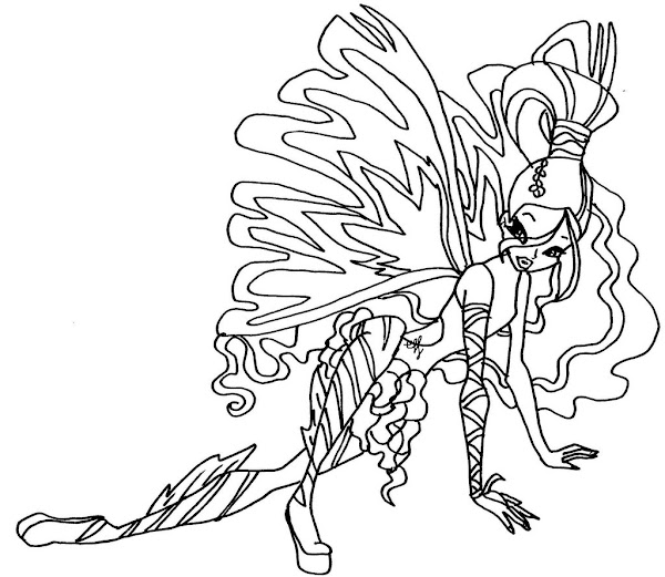 Transformation Winx Club Flora Coloring Pages