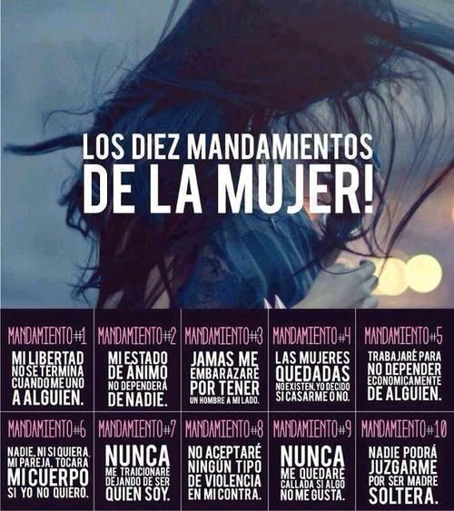 LOS DIEZ MANDAMIENTOS DE LA MUJER