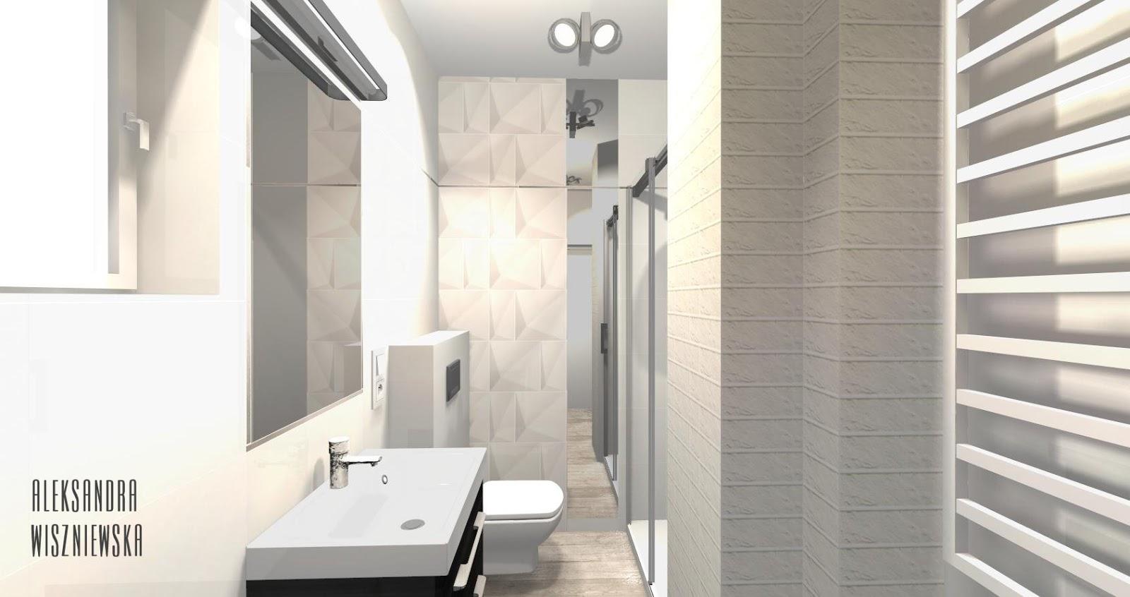 Projekty łazienek Wizualizacje Zień Tegel Tubądzin All