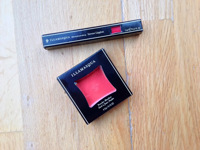 Illamasqua Excite Blush and Succubus Intense Lipgloss
