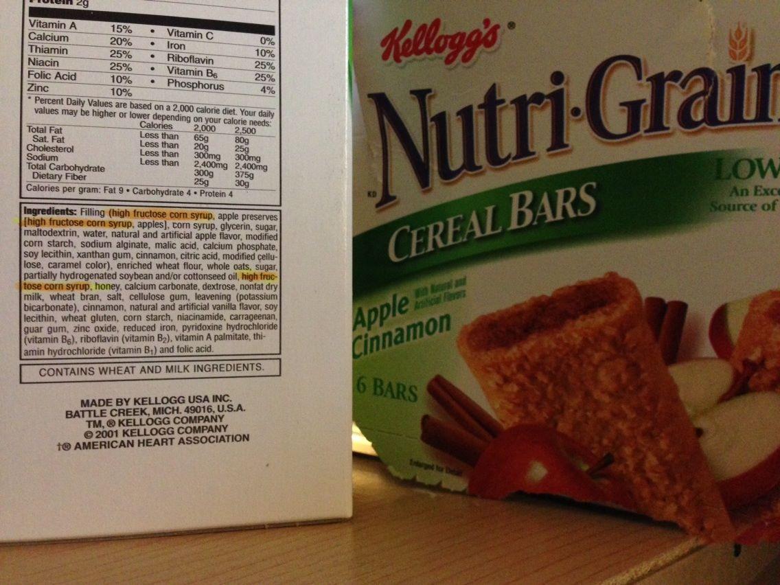 high fructose corn syrup and kellogg