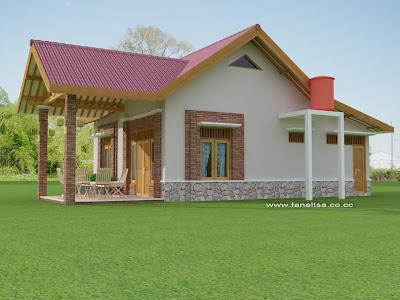 contoh desain rumah sederhana tipe minimalis campur sari