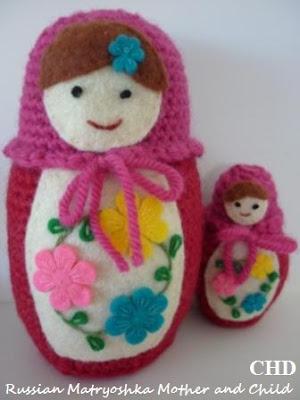 Russian Matryoshka amigurumi babushka Dolls Crochet Pattern