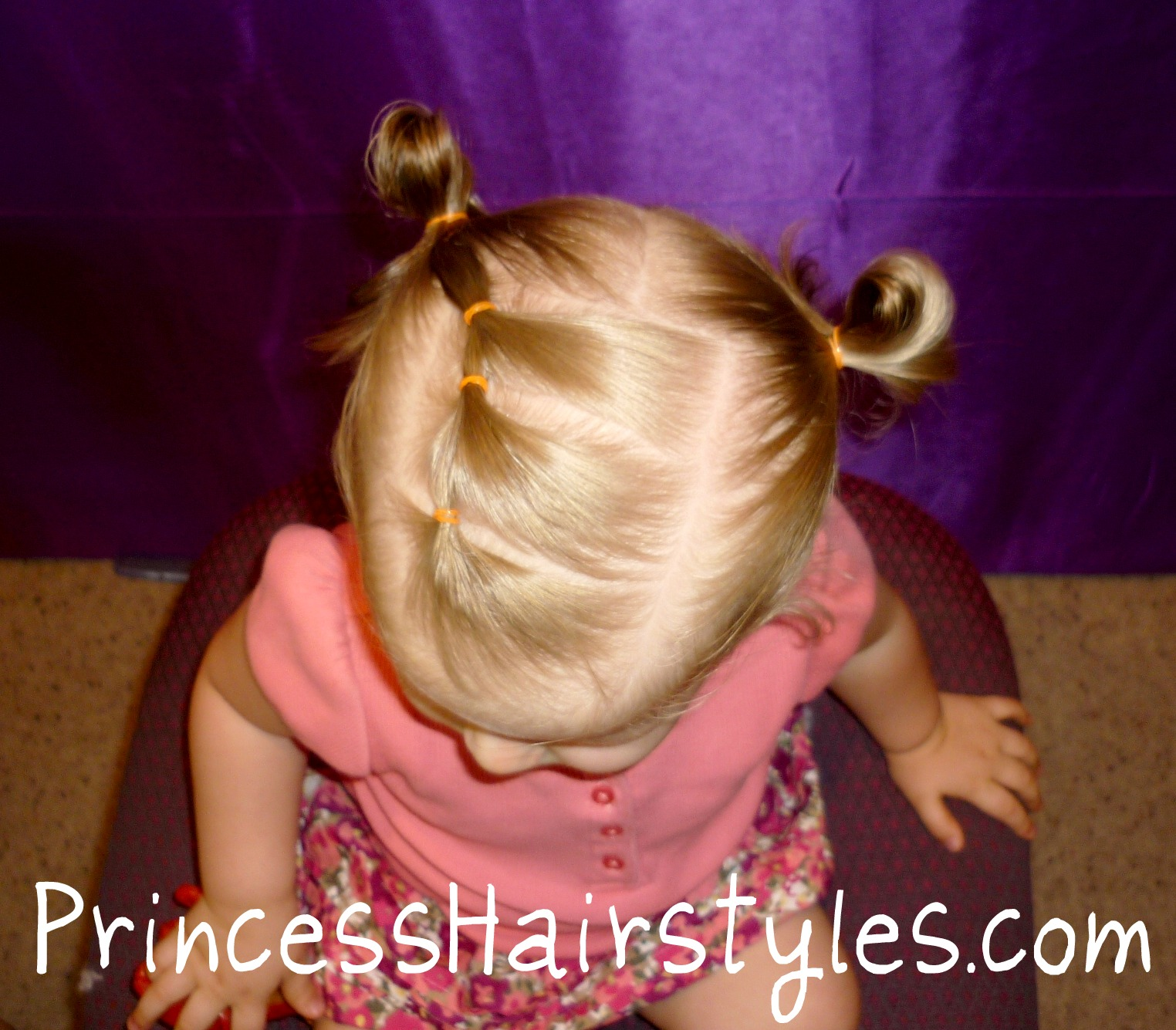 Toddler Hairstyles, Elastic Braid Pigtails  Hairstyles For Girls