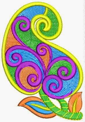 nuwe styl van die kleurvolle geborduurde chiffon appliekwerk ontwerp.