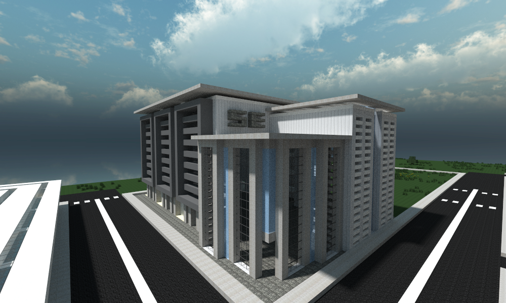 aces city a modern minecraft city new buildings