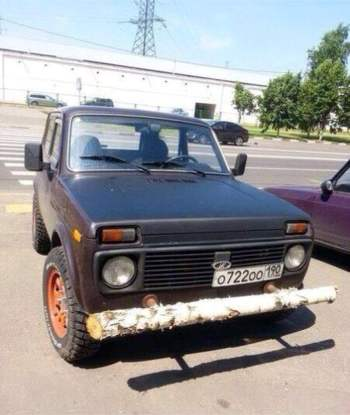 Bara de protectie a unei masini din Rusia