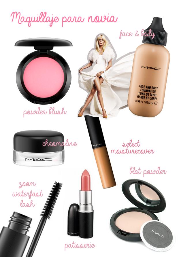 Maquillaje para novia con MAC